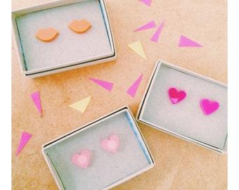 Lasercut Heart + Swallow + Lips Stud Earrings
