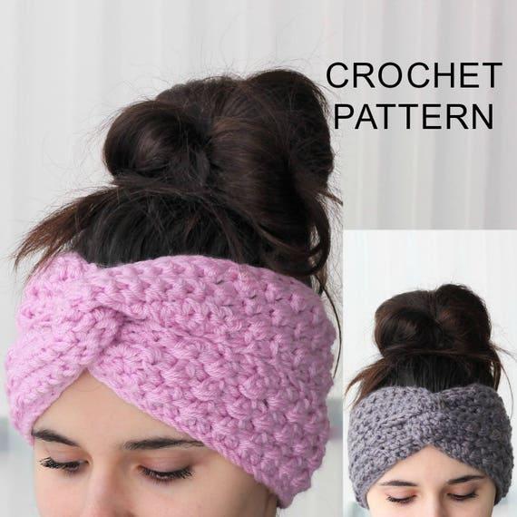 Crochet Pattern PDF, Patron de crochet - ENYA Turban Ear Warmer ...