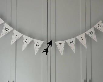 Wild Thing Baby Shower Banner