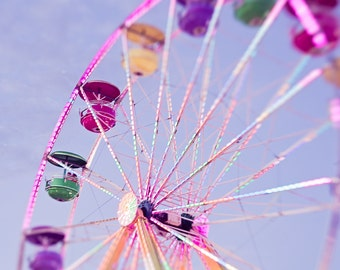 Ferris Wheel, MN State Fair, Midway, Carnival Fine Art Photography for Home Decor, Nursery, Office