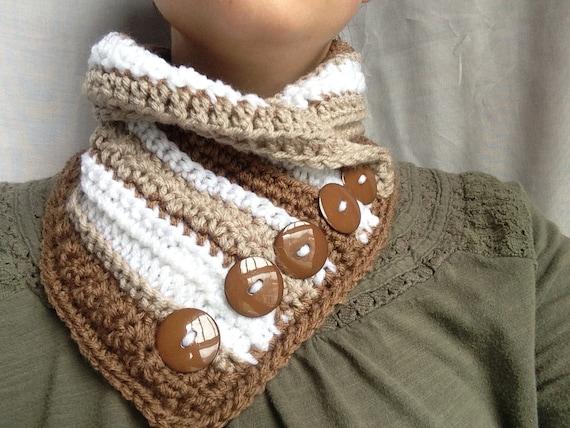 Crochet Pattern Crochet Cowl Pattern Easy Crochet Scarf Pattern