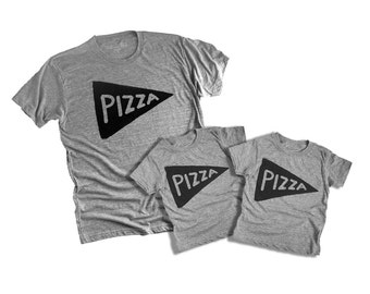 Father's Day Gift : Father Child Pizza Tshirts, 3 SHIRTS / matching family shirts, dad and baby, father son, daughter, dad gift from kids