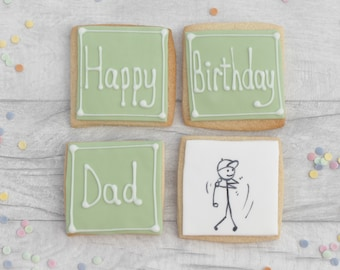 Birthday Golfer gift, gift for golfing dad, golfer gift, gift for dad, dad birthday gift, decorated cookies, foodie, gift for father, golf
