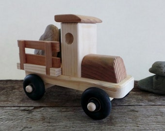 Wooden Truck-Eco Friendly Wood Toy Truck With Side Rails