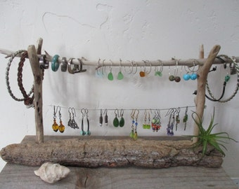 Driftwood Earring - Rings - Bracelets Jewelry Holder Display Stand *Nautical Style*