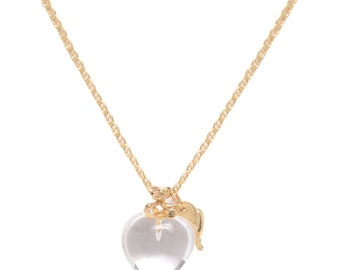 Rock Crystal Heart with Charms Necklace