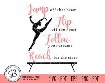 Gymnastics SVG, Dance svg, Cheer SVG, Quote svg, Positive svg, Dance quote svg, svg files, svg files for cricut