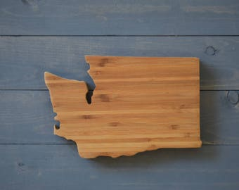 Washington, Washington State, Washington Cutting Board, Washington Decor, State Shaped, State Cutting Board, State Shaped Cutting Board