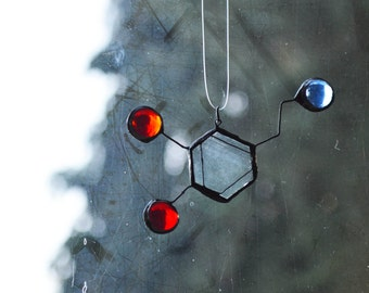 Stained Glass Suncatcher - Dopamine