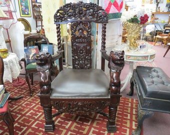 Large Vintage Wedding Chair Or Throne