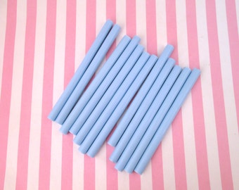 10 Baby Blue Glue Sticks for drippy deco sauce, cell phone deco etc, hot glue sticks