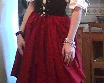 Romantic Renaissance Women Waist Cincher Full Costume Cosplay Theartical Dance Pirate Wench