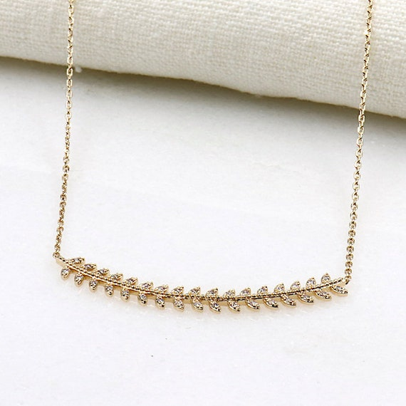 ears of corn with cubic zirconia gold plated necklace