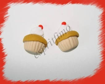 "Stick charm ""rum baba"" Fimo"