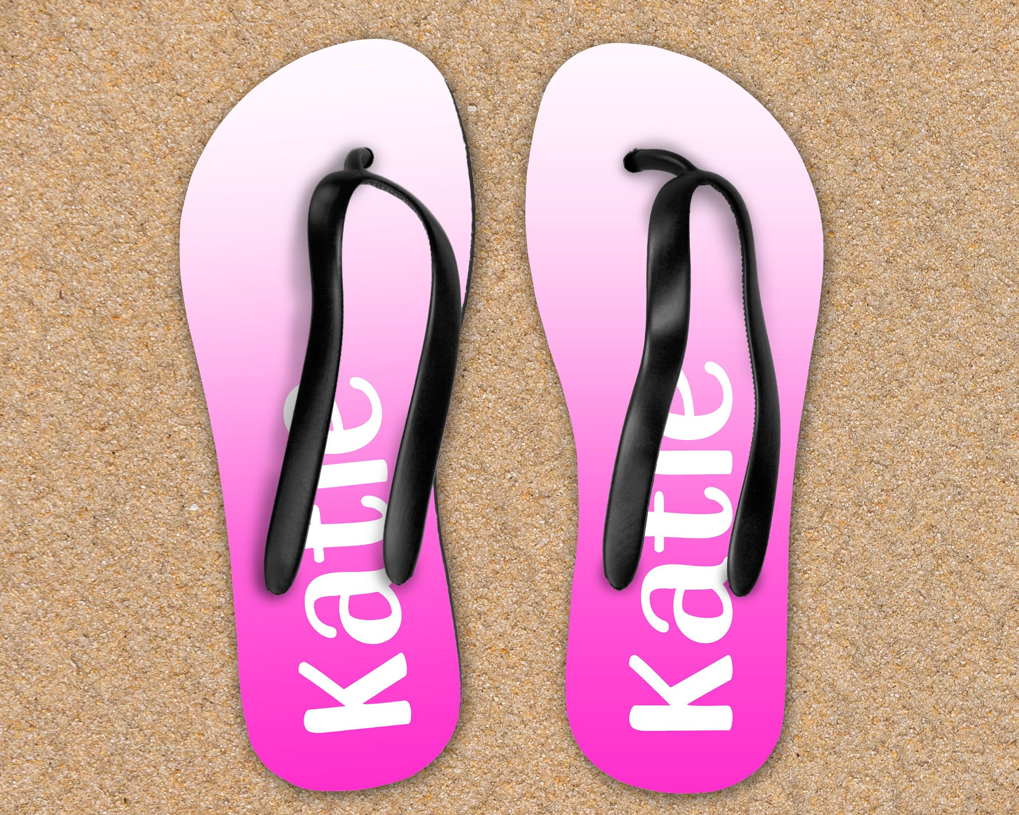 Custom Name Flip Flops Sandals Shoes Personalized Prom