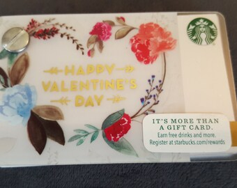 Starbucks Upcycled Refillable Giftcard Notebook - 2016 Happy Valentine's Day