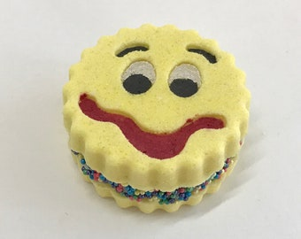 Emoji Whoopie Pie Bath Bomb Cute Cool Yum Goofy Grumpy Happy