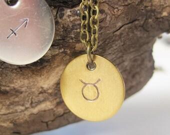 Taurus Necklace Zodiac Necklace Taurus Jewelry Taurus Zodiac Zodiac Jewelry Astrology Jewelry April Birthday