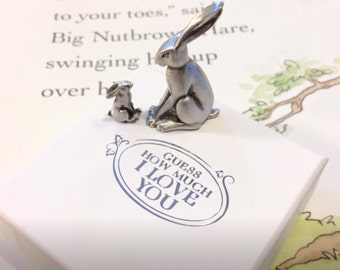 """Guess How Much I Love You"""" pewter characters"""