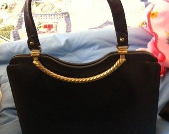 Vintage Blue Leather Joseph Magnin Handbag
