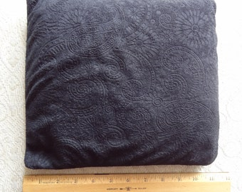 Flax Seed Hot/Cold Therapy Pad/Pillow - Black Embossed