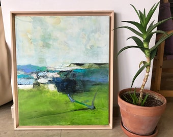 Large Acrylic Painting, Landscape Painting, Original Artwork, Acrylic Painting Abstract, Palette knife Landscape, Kitchen Decor,