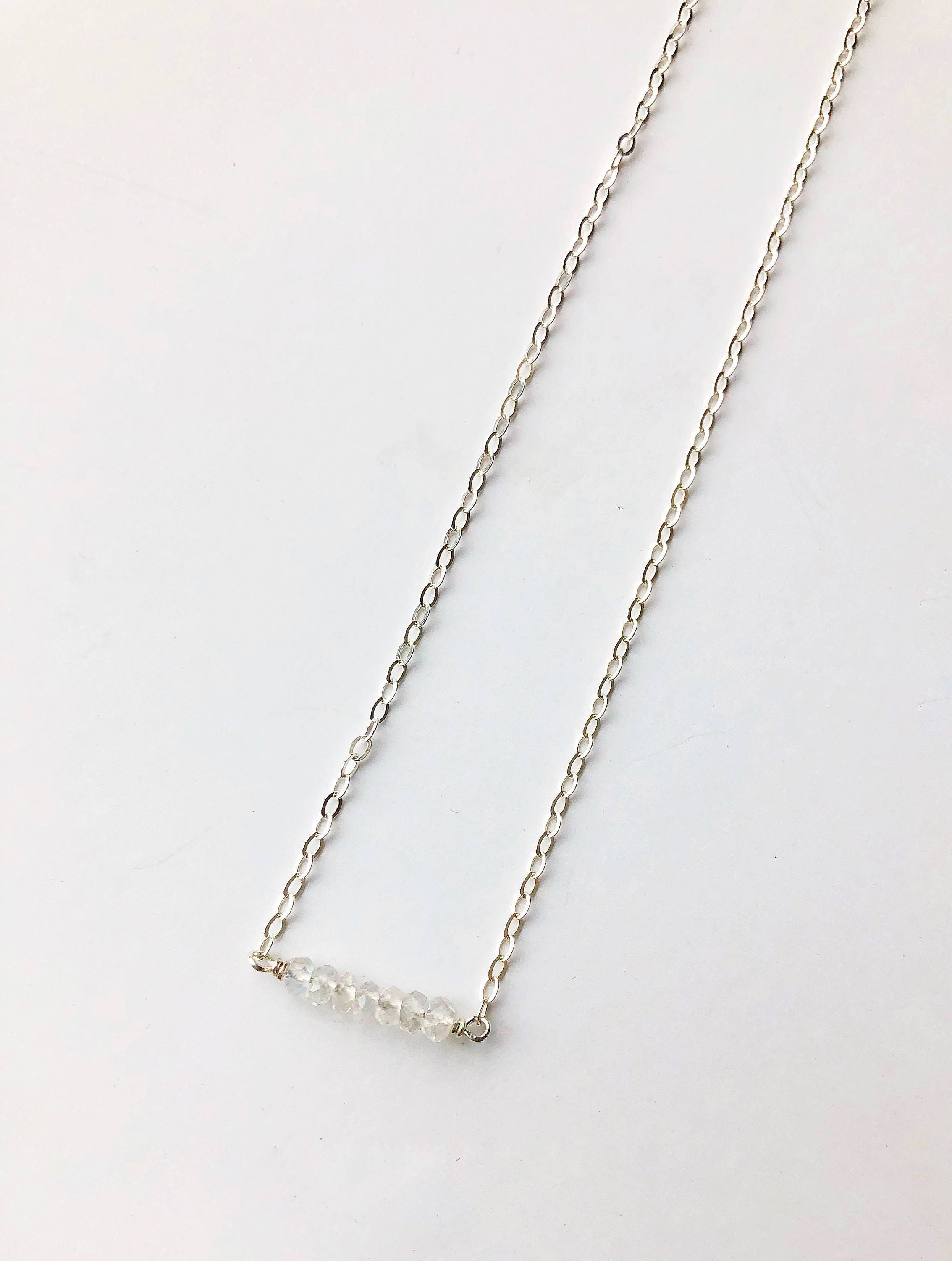 necklace daisy sterling product silver long