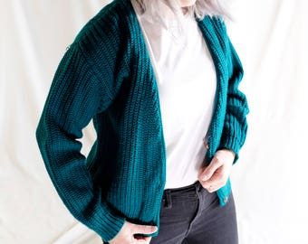 Vintage Cable-Knit Cardigan