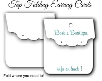 Custom Earring Card Display 035, Blank Jewelry Display  Personalized Jewelry Cards  Label  Hang tag, Printed Label Fold