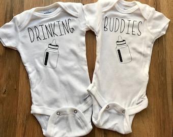 Drinking Buddies Onesie | Twin Onesie | Cousin Onesie