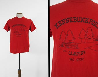 Vintage Kennebunkport Camping T-shirt Maine RV Campground Tee - Medium