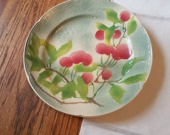 Eight French 1930's St Clement Fruit Plates