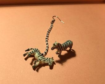 Mini Zebra Earrings