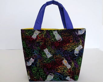 Girl's Cat Bag, Kids Tote Bag, Kids Handbag, Cat Gifts for Girls, Kids Cat Bag, Kittens with Wool, Kitten Gifts for Kids, Cat Purse for Kids