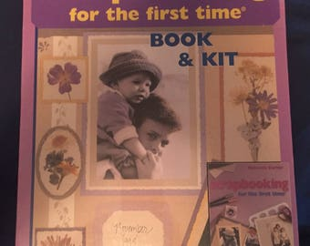 Scrapbooking for the First Time - Book and Kit - Brand New