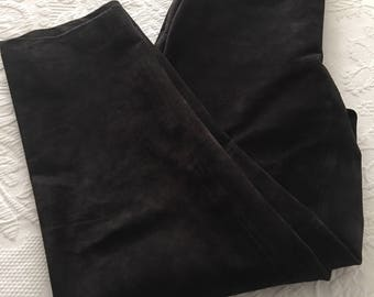 Ladies Black leather suede pants