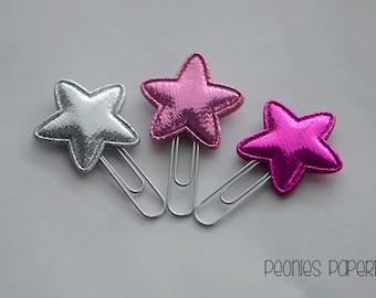 Pretty Pink Stars Mini Planner Paper Clips for Your Erin Condren Filofax Kikki K Planner Accessories