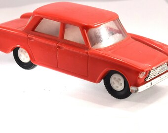 Vintage Fiat 1300 KDN Toy Car Plastic Scale 1:4 Made in Czehoslovakia 1970s