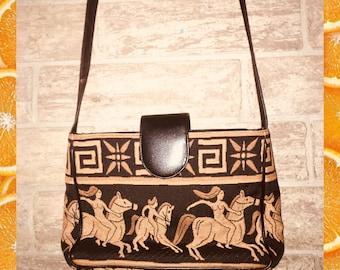 Vintage feel Egyptian style handbag
