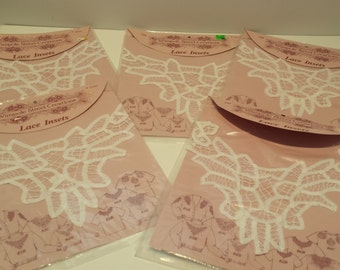 SALE Wimple Street Creations Lace Insets 1992 - 5 packges