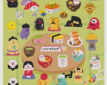 Japanese Stickers - Sushi and Sumo - Mind Wave Stickers - Reference A4216