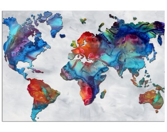 Colorful world map art beauty of color v25 rainbow colorful world map art beauty of color v23 rainbow map artwork gumiabroncs Gallery
