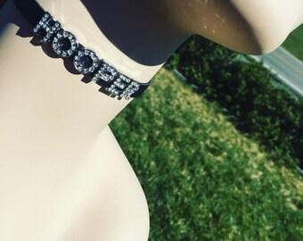 HOOPER Bling Choker necklace Hula Hoop accessories