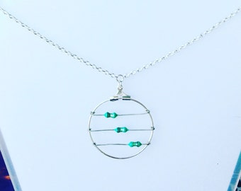 3 Green Inductors Necklace