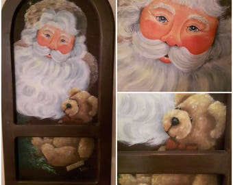 """Decorative ( tole) painting pattern packet """"Toby and Santa"""""""