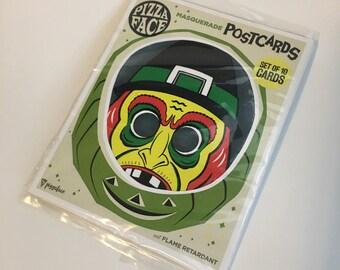 Monster Mask Postcard Package