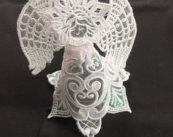 Free-Standing Lace Angel with Organza