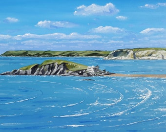Burgh Island, Bigbury - Devon Seascape - Original Acrylic Painting