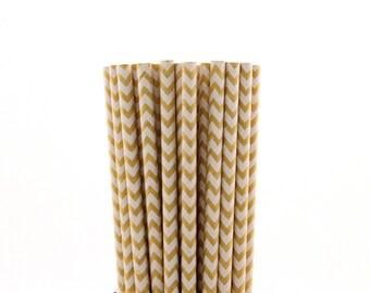 Kraft Chevron Paper Straws-Kraft Straws-Chevron Straws-Garden Party Straws-Tea Party Straws-Kraft Zigzag Paper Straws-Wedding Straws