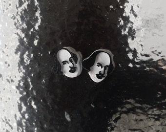 Shakespeare Silhouette Stud Earrings